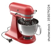 stand mixer red isolated on... | Shutterstock . vector #353079224