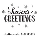 seasons greetings postcard... | Shutterstock .eps vector #353083349