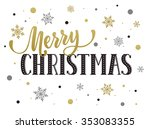 merry christmas postcard... | Shutterstock .eps vector #353083355