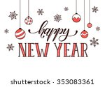 happy new year postcard... | Shutterstock .eps vector #353083361