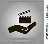 video icon cinema sign | Shutterstock .eps vector #353089661