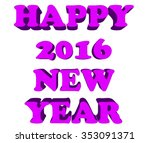 happy new year postcard | Shutterstock . vector #353091371