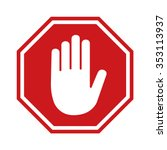 adblock or red stop sign icon... | Shutterstock .eps vector #353113937