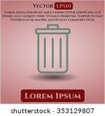 trash can icon vector... | Shutterstock .eps vector #353129807