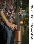 close up of a man playing... | Shutterstock . vector #353137709