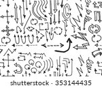 hand drawn doodle seamless... | Shutterstock .eps vector #353144435
