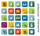 dressing color icons with long... | Shutterstock .eps vector #353149625