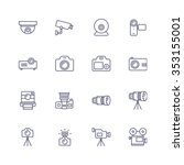 devices icons | Shutterstock .eps vector #353155001