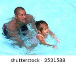 father and daughter playing at... | Shutterstock . vector #3531588