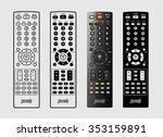 tv remote control | Shutterstock .eps vector #353159891