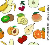 fruit pattern on white... | Shutterstock .eps vector #353161829