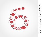 Number 6 Made From Red Chinese...