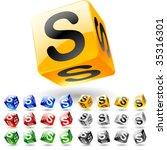 glossy alphabet on a cubes....   Shutterstock .eps vector #35316301