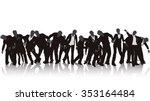 illustration of zombie... | Shutterstock .eps vector #353164484