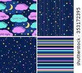 good night seamless patterns... | Shutterstock .eps vector #353172395