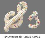 cream candy font | Shutterstock . vector #353172911