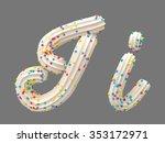 cream candy font | Shutterstock . vector #353172971