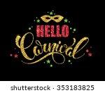 carnival glittering lettering... | Shutterstock .eps vector #353183825