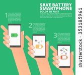 save battery smart phone info... | Shutterstock .eps vector #353185961