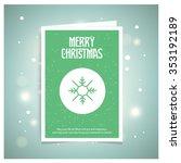 merry christmas greetings card...   Shutterstock .eps vector #353192189