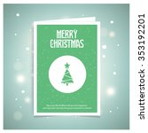 abstract christmas tree. green... | Shutterstock .eps vector #353192201