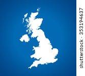 map of united kingdom | Shutterstock .eps vector #353194637
