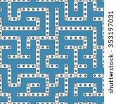 labyrinth seamless linear...   Shutterstock .eps vector #353197031