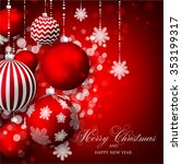 christmas invitation with... | Shutterstock .eps vector #353199317