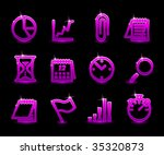 vector business icon set | Shutterstock .eps vector #35320873