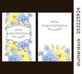 vintage delicate invitation...   Shutterstock .eps vector #353225924