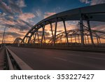 darnitskiy bridge across dnepr...   Shutterstock . vector #353227427
