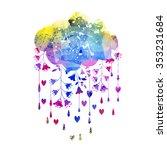 rain  | Shutterstock . vector #353231684