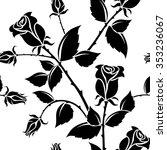 vector seamless pattern. roses.   Shutterstock .eps vector #353236067