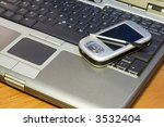office tools   a pda and a... | Shutterstock . vector #3532404