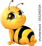 Beautiful Bee Which Drawing On...