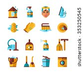 housekeeping accessories and... | Shutterstock .eps vector #353250545