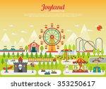 amusement park concept with... | Shutterstock .eps vector #353250617