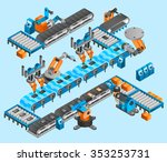 industrial robot concept with... | Shutterstock .eps vector #353253731