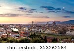 panoramic sunset over cathedral ... | Shutterstock . vector #353262584
