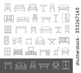 line icons   furniture | Shutterstock .eps vector #353267165