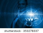 businesswoman hand presenting... | Shutterstock . vector #353278337