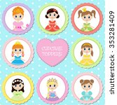 Set Of Tags With Princess Them...