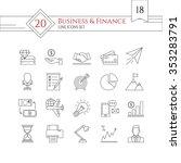modern line icons set. icons... | Shutterstock .eps vector #353283791