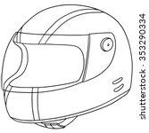 vector set of motorcycle helmet | Shutterstock .eps vector #353290334