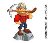 prospector cartoon | Shutterstock .eps vector #353291855