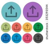 color upload flat icon set on...