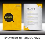 yellow annual report vector... | Shutterstock .eps vector #353307029