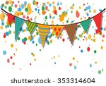party flags and summer colored... | Shutterstock .eps vector #353314604