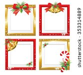 set of christmas frames vector... | Shutterstock .eps vector #353314889