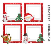 set of christmas frames vector... | Shutterstock .eps vector #353314895